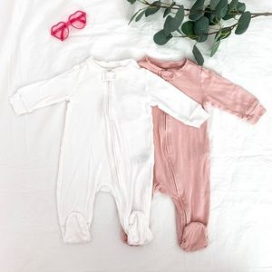 Two soft footed one-piece